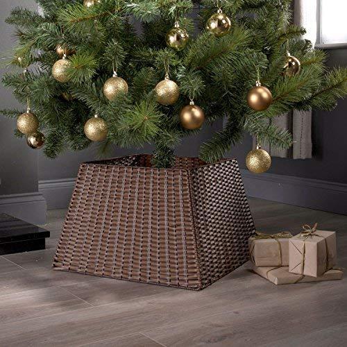 weihnachtsbaumst nder im rattan weidengeflecht. Black Bedroom Furniture Sets. Home Design Ideas