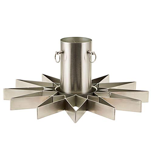 House Doctor - Christmas Tree Stand - Star - Christbaumständer - Metall - silverfinish - W: 4 cm x H: 20cm