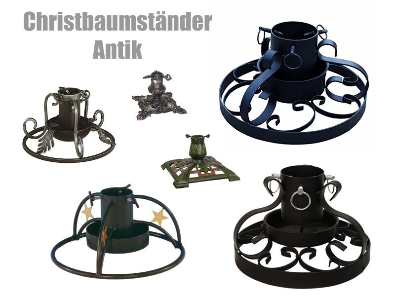 Christbaumständer Baumständer Eisen Metall Weihnachtsbaumständer ANTIK Ø 34cm